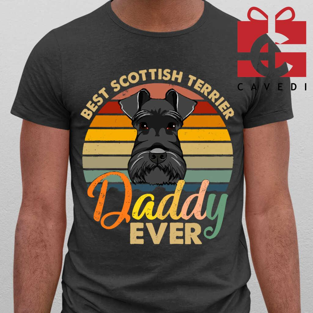 Best+Scottish+Terrier+Daddy+Ever+Vintage+Retro+Gift+For+Fathers+Day+Tee+Shirts+Black+1