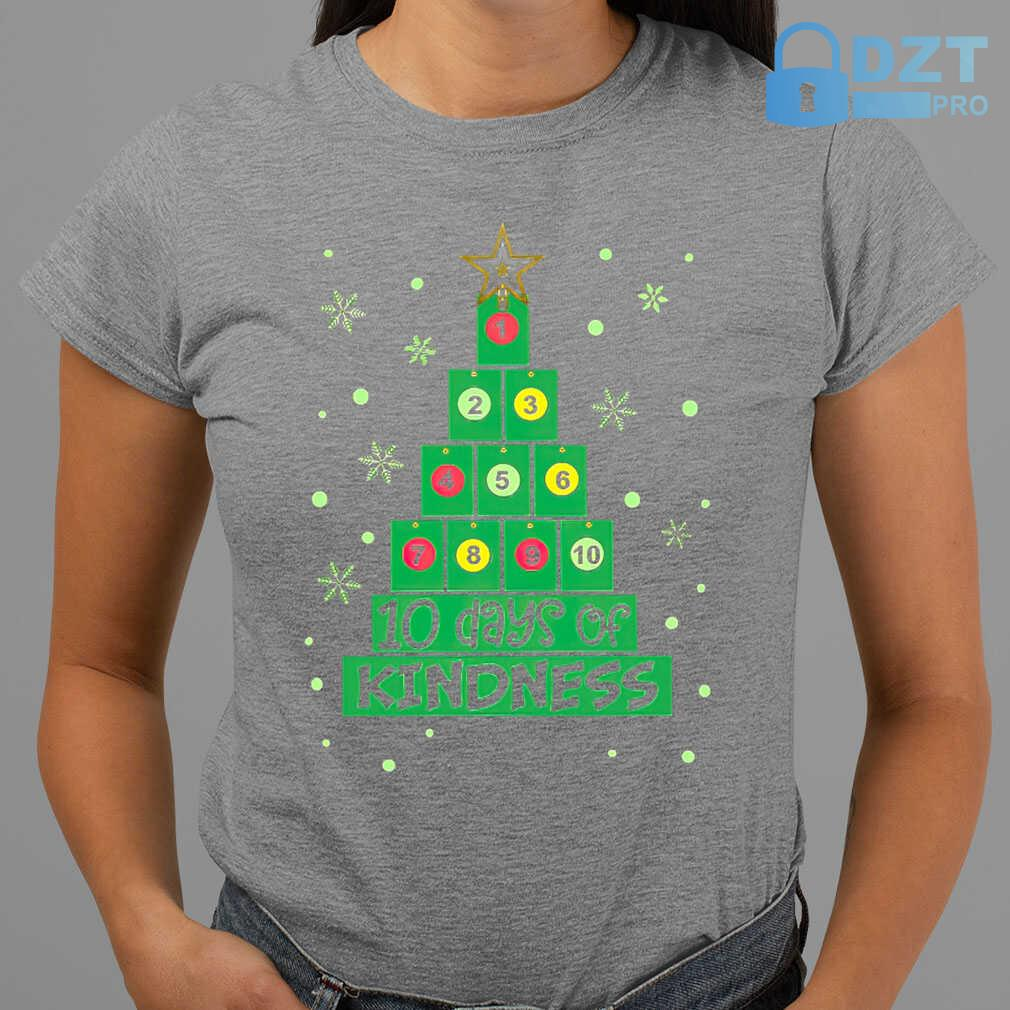 10 Days Of Kindness Christmas Tree Tshirts Black - from dztpro.co 2