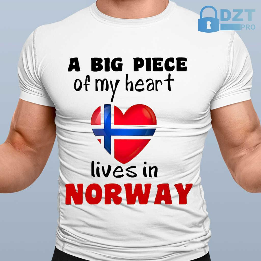 A Big Piece Of My Heart Lives In Norway Tshirts White - from dztpro.co 1