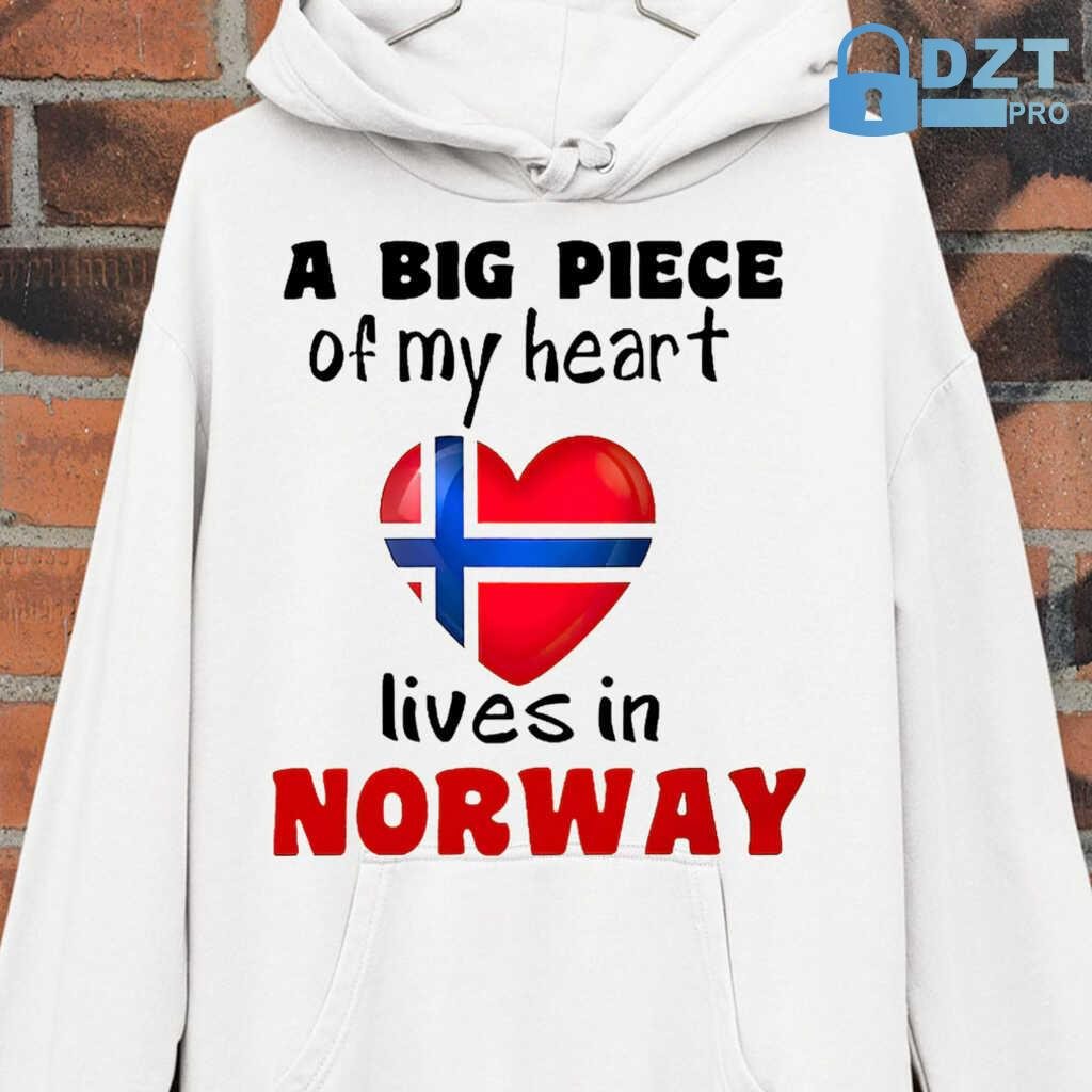 A Big Piece Of My Heart Lives In Norway Tshirts White - from dztpro.co 3