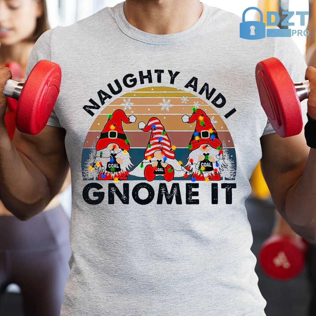 Christmas Naughty And I Gnome It Vintage Retro Tshirts White - from dztpro.co 1