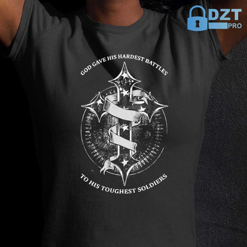 God Gave His Hardest Battles Toughest Soldiers Mesothelioma Awareness Peach Ribbon Warrior Tshirts Black - from dztpro.co 2