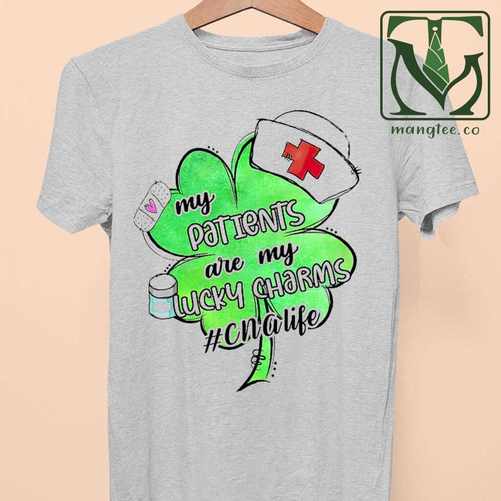 Cna Life My Patients Are My Lucky Charms Tshirts White - from mangtee.co 3