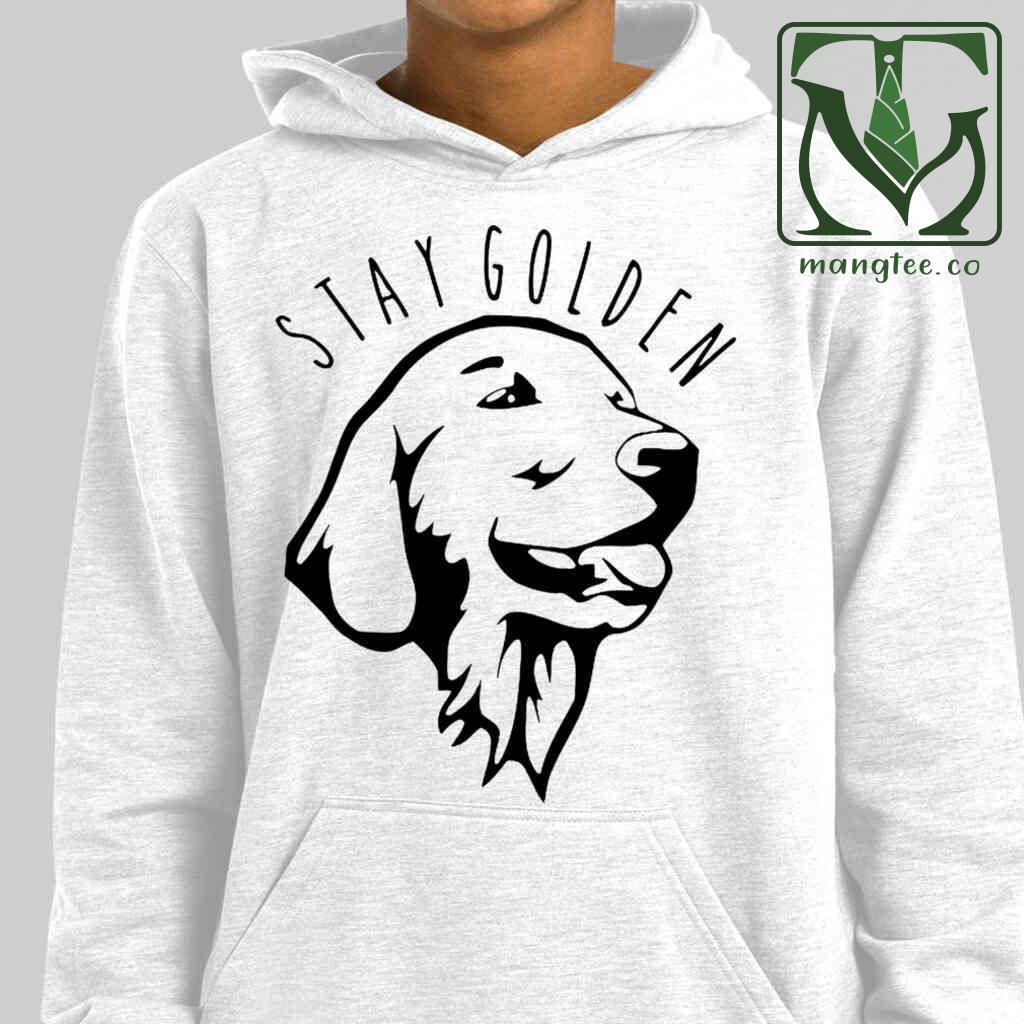 Stay Golden Line Art T-shirts White Apparel White - from mangtee.co 4