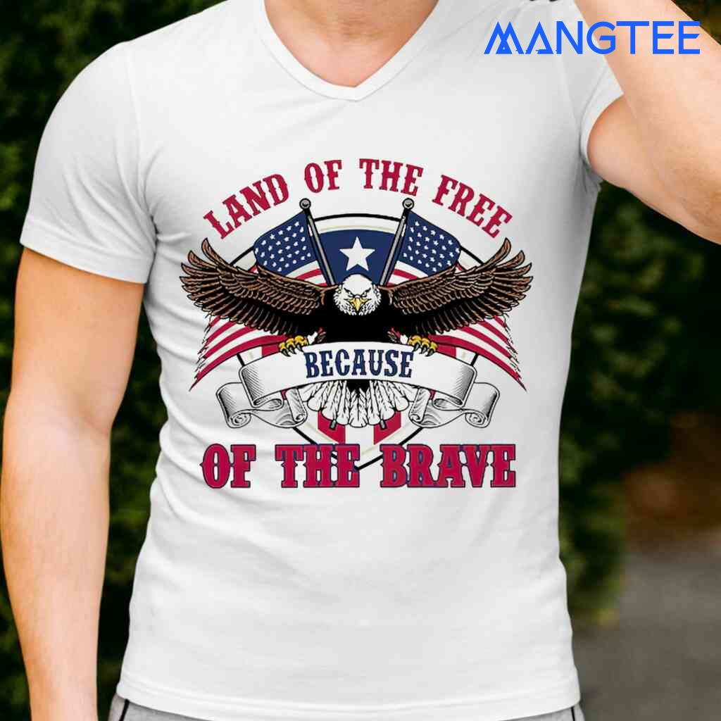 Veteran Eagle USA Land Of The Free Because Of The Brave T-shirts White Apparel White - from mangtee.co 2