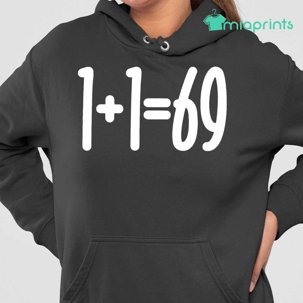 1+1=69 Funny Humor Couple Tee Shirts Black Apparel black - from miaprints.co 4
