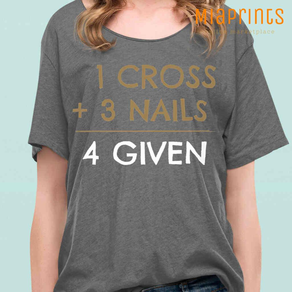 1 Cross 3 Nails 4 Given Tee Shirts Black Apparel Black - from miaprints.co 2