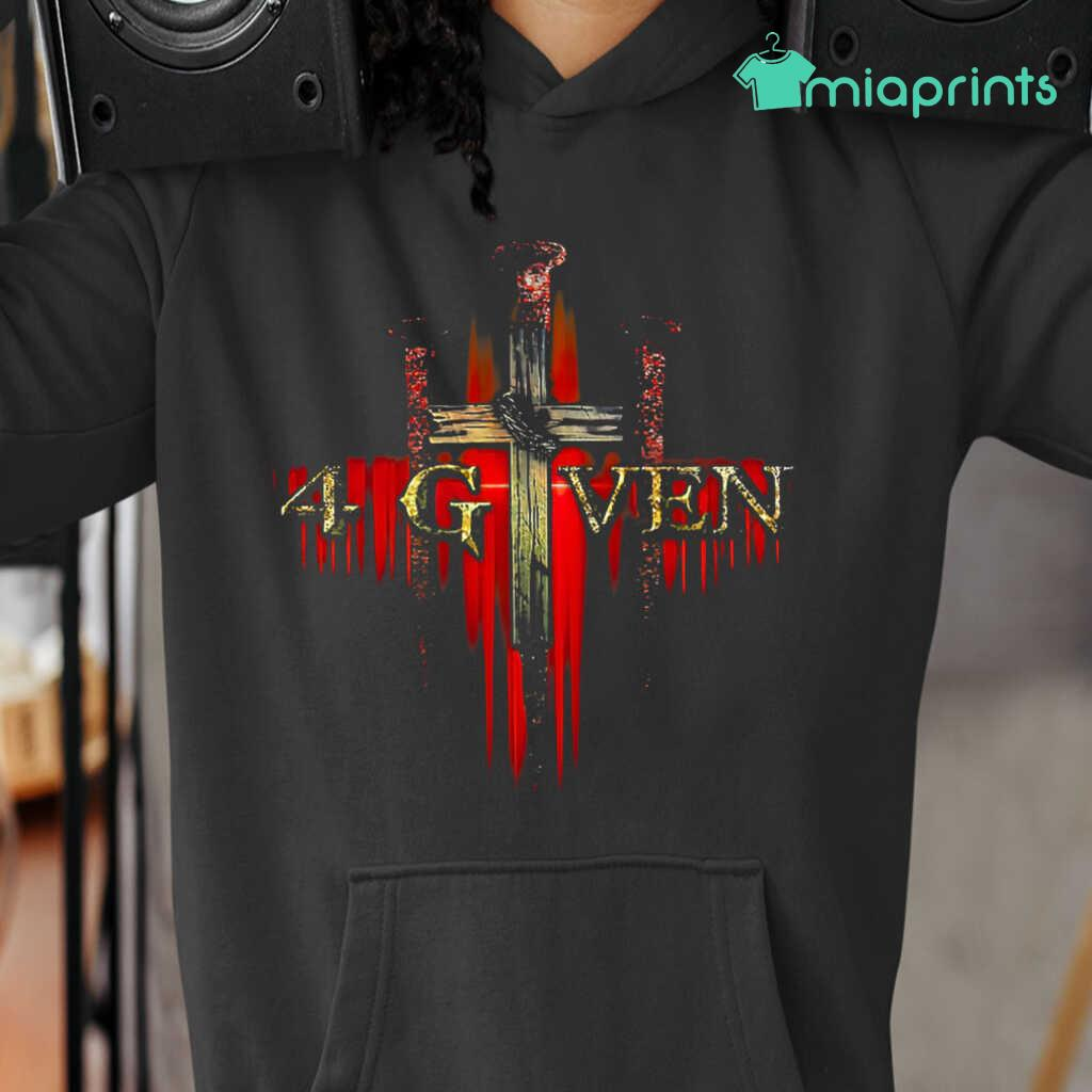 1 Cross 3 Nails 4given Tee Shirts Black Apparel Black - from miaprints.co 3