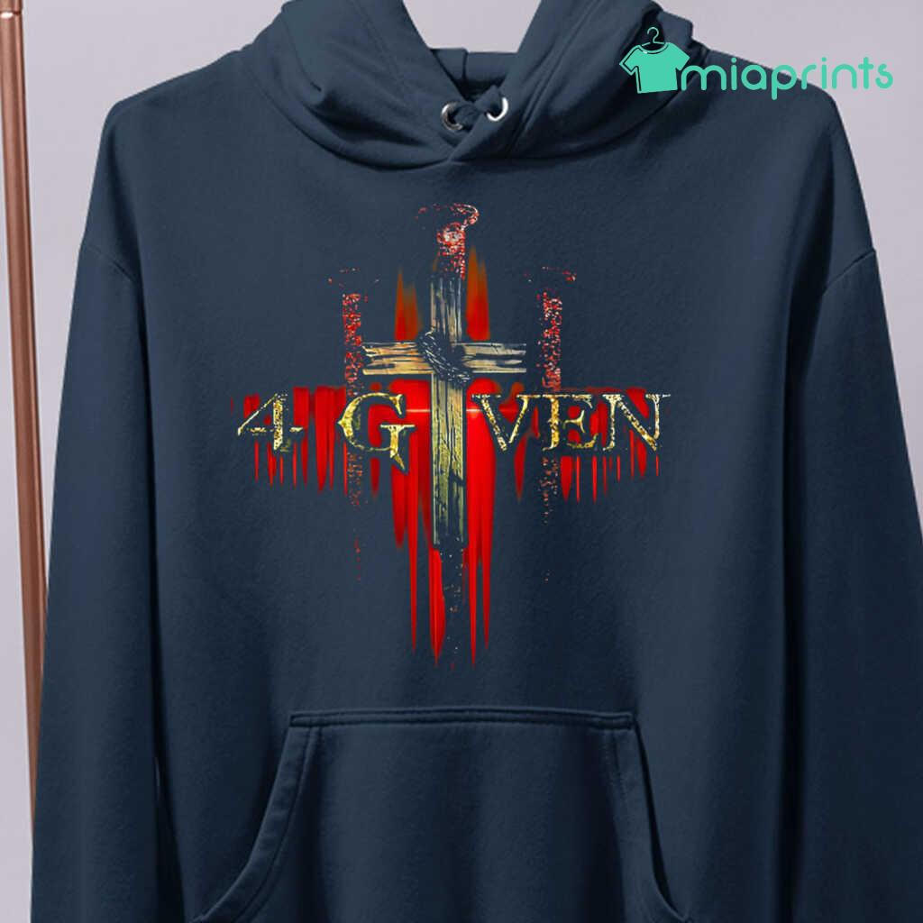 1 Cross 3 Nails 4given Tee Shirts Black Apparel Black - from miaprints.co 4