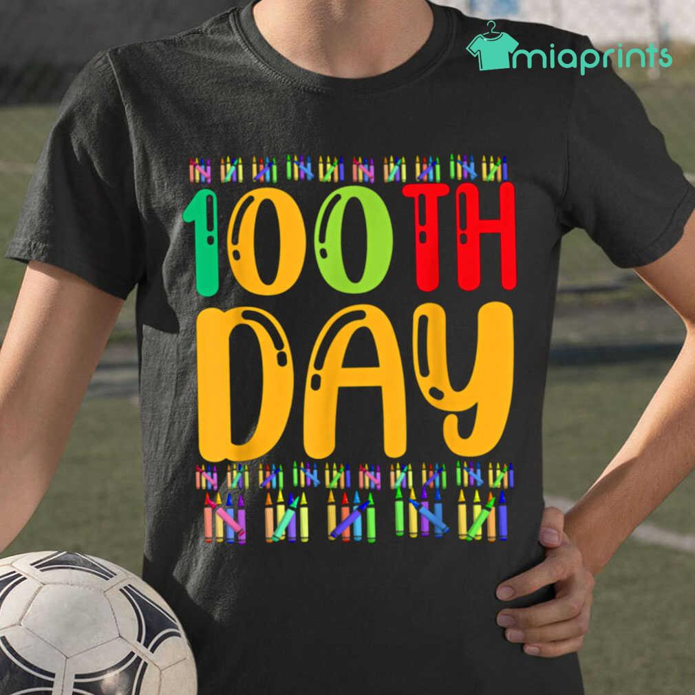 100th Day Of School Life Of Student Tee Shirts Black