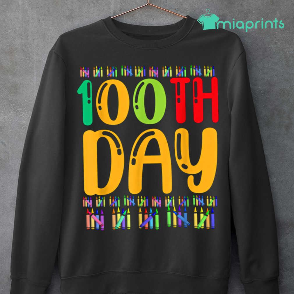 100th Day Of School Life Of Student Tee Shirts Black - from miaprints.co 3