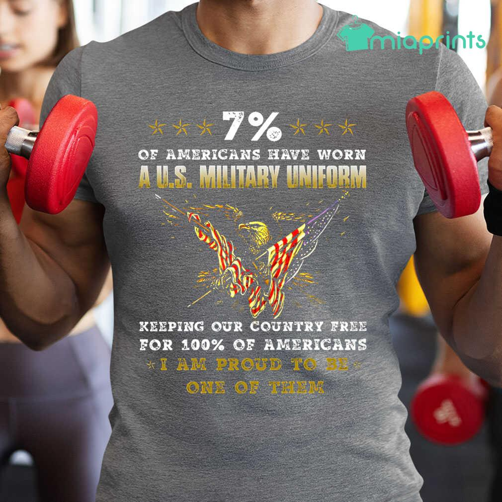7 Percent Of Americans Have Worn A US Military Uniform Tee Shirts Black - from miaprints.co 1