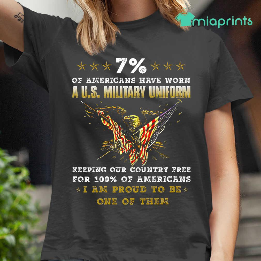 7 Percent Of Americans Have Worn A US Military Uniform Tee Shirts Black - from miaprints.co 2