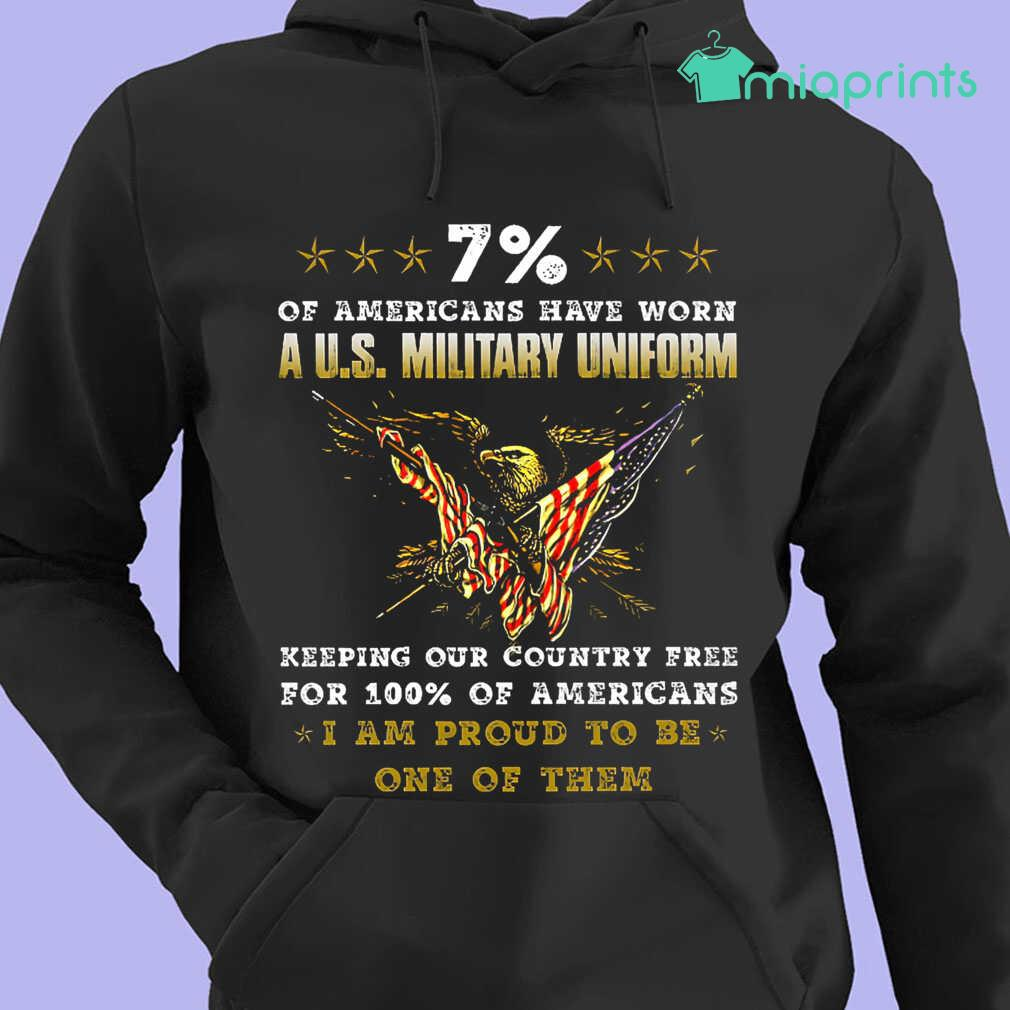 7 Percent Of Americans Have Worn A US Military Uniform Tee Shirts Black - from miaprints.co 4