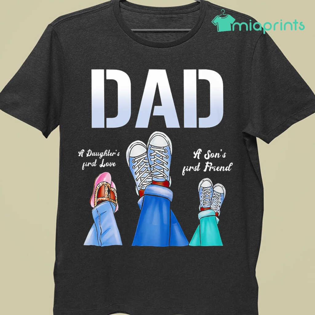 Afro Dad A Daughter's First Love A Son's First Friend Tee Shirts Black Apparel Black - from miaprints.co 3