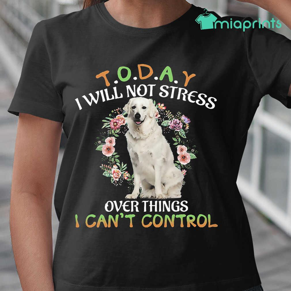 Kuvasz Today I Will Not Stress Over Things I Can't Control Tee Shirts Black Apparel black - from miaprints.co 2