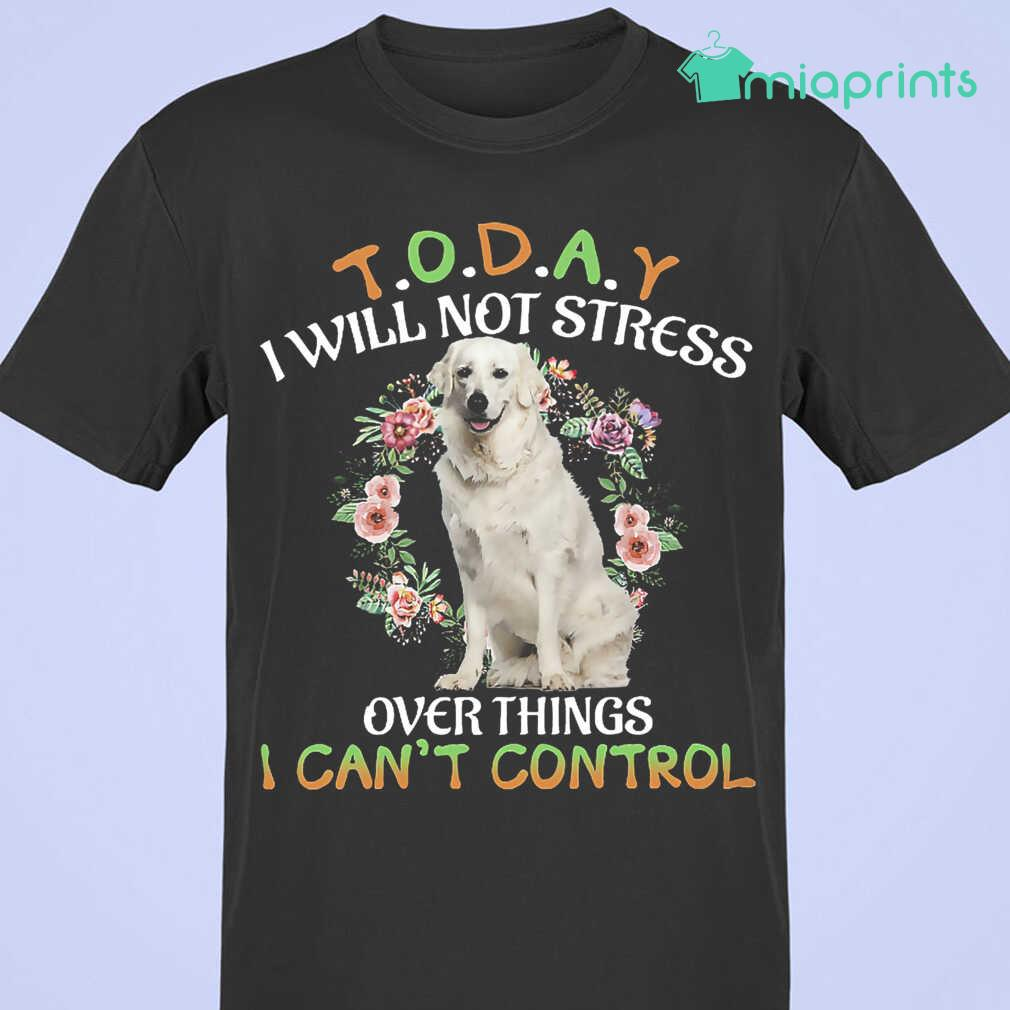Kuvasz Today I Will Not Stress Over Things I Can't Control Tee Shirts Black Apparel black - from miaprints.co 3