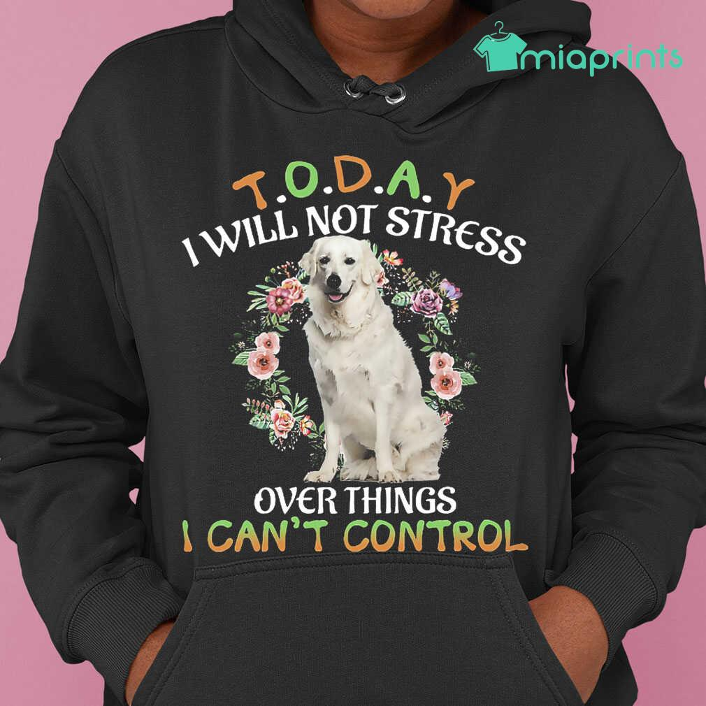 Kuvasz Today I Will Not Stress Over Things I Can't Control Tee Shirts Black Apparel black - from miaprints.co 4