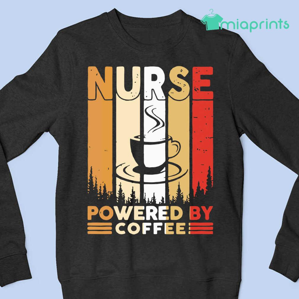 Nurse Powered By Coffee Vintage Tee Shirts Black - from miaprints.co 4