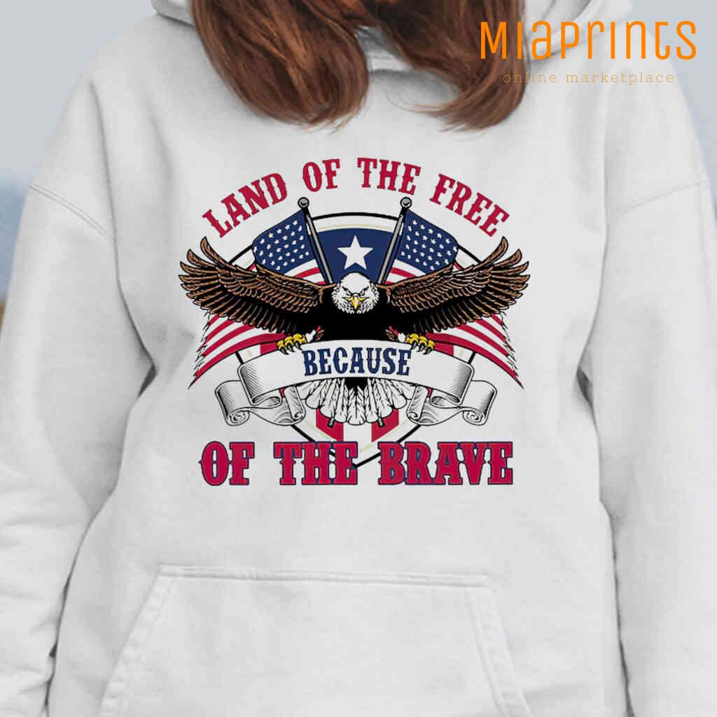 Veteran Eagle USA Land Of The Free Because Of The Brave Tee Shirts White Apparel White - from miaprints.co 4