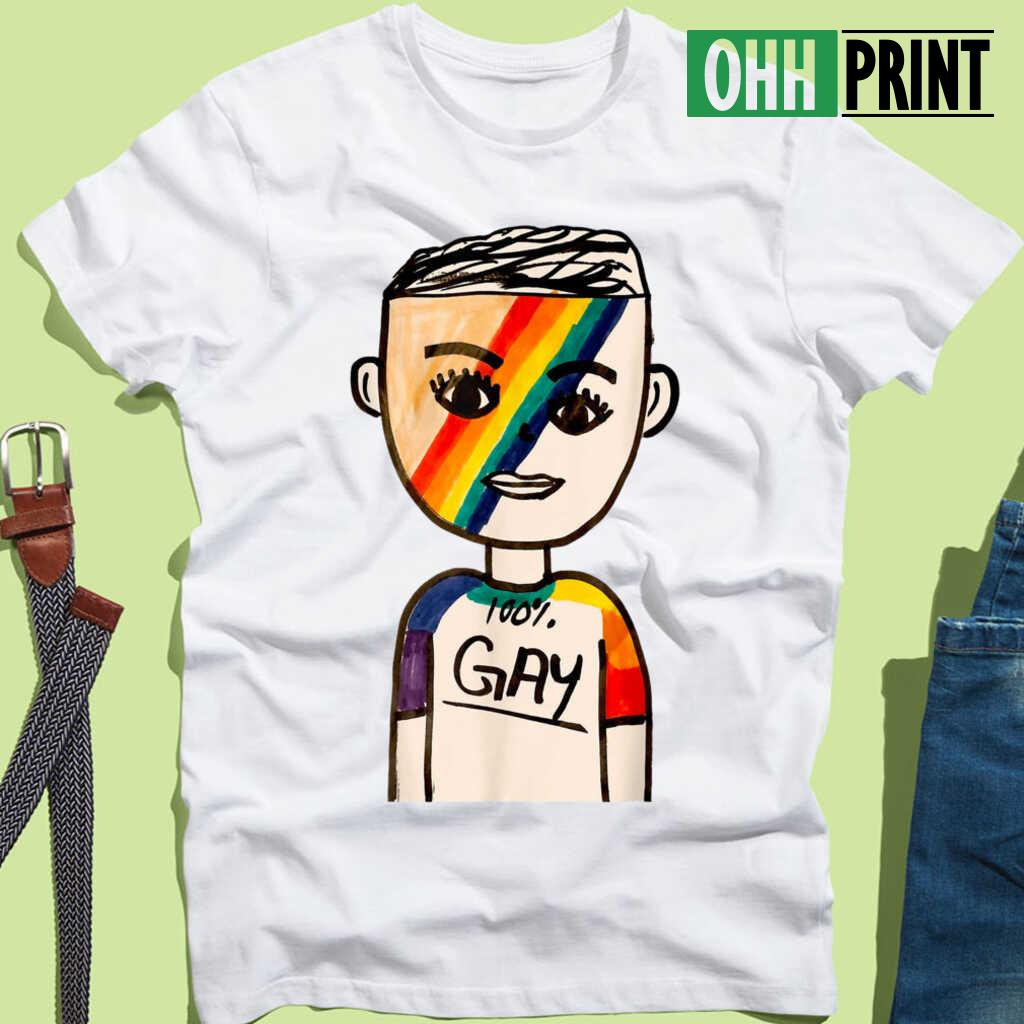 100% Gay Boy LGBT T-shirts White - from ohhprint.co 3