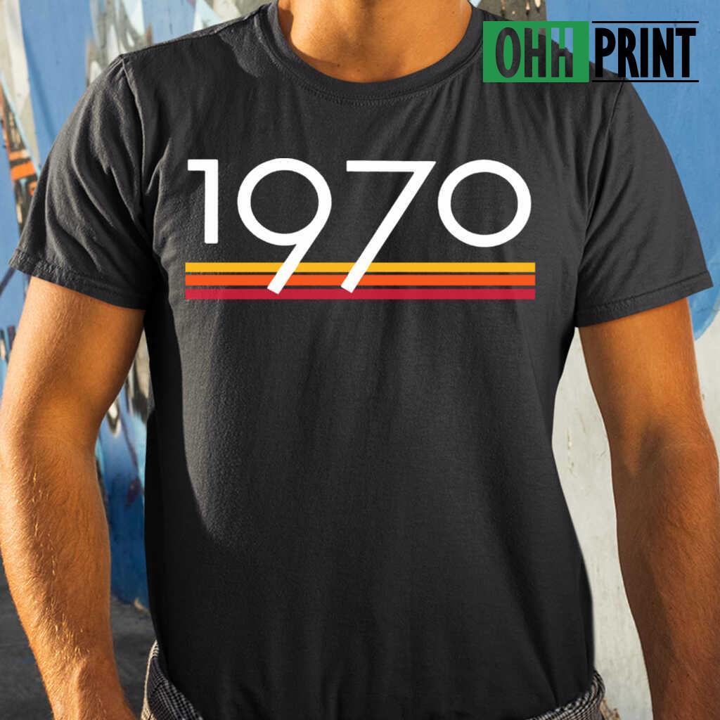 1970 Vintage T-shirts Black