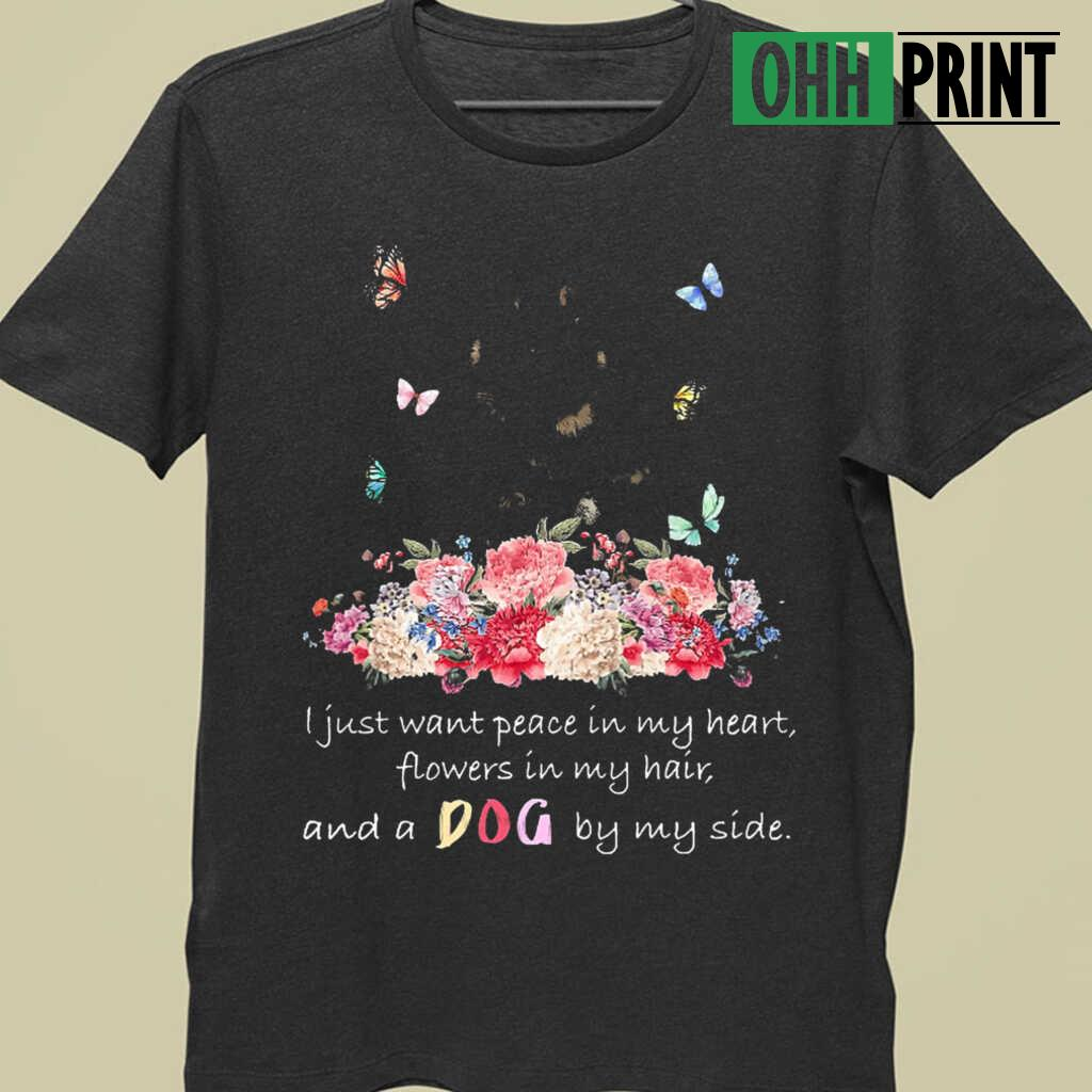 A Dog By My Side Tibetan Mastiff T-shirts Black - from ohhprint.co 3