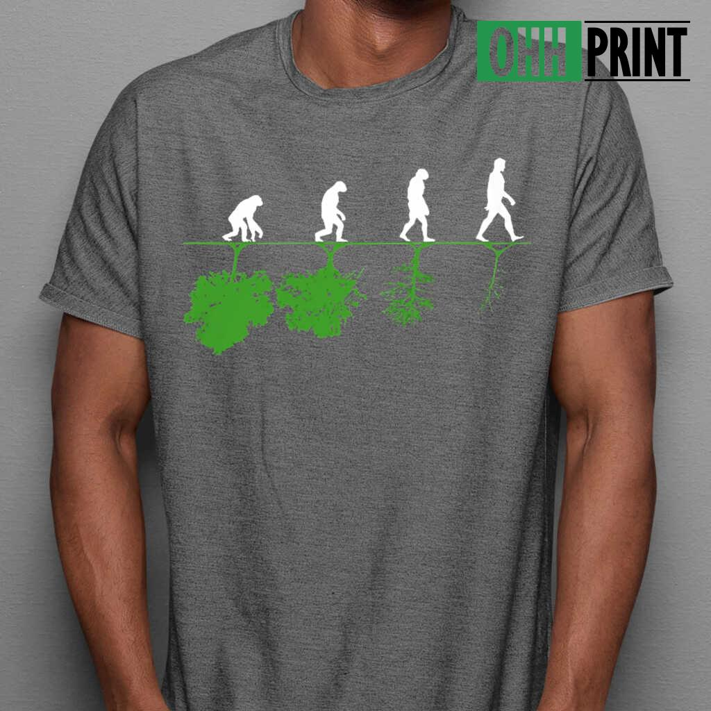 Humans And Trees T-shirts Black - from ohhprint.co 1