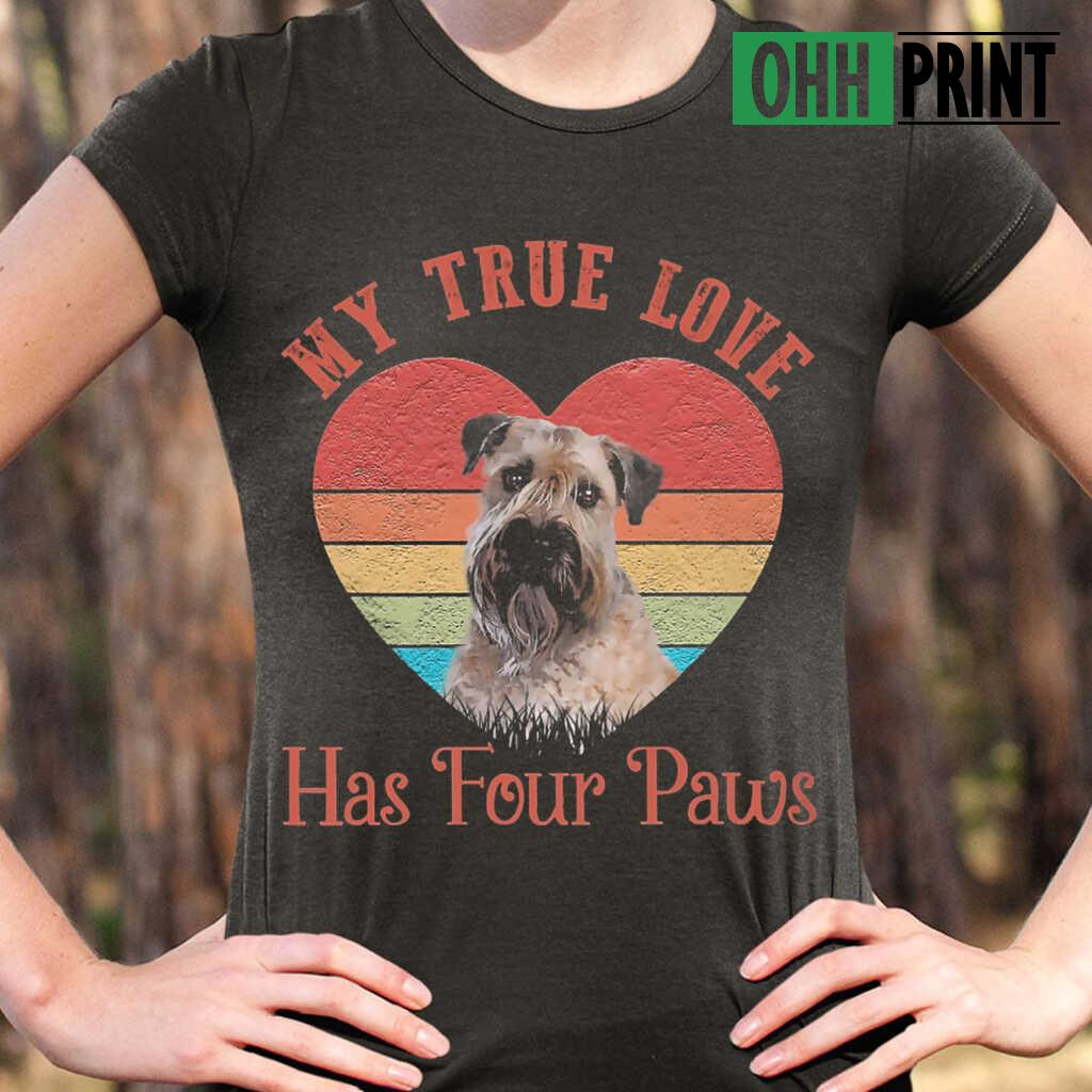 My True Love Has Four Paws Retro Wheaten Terrier T-shirts Black - from ohhprint.co 2