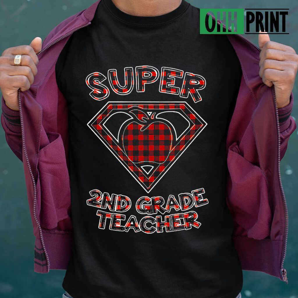 Super 2nd Grade Teacher T-shirts Black