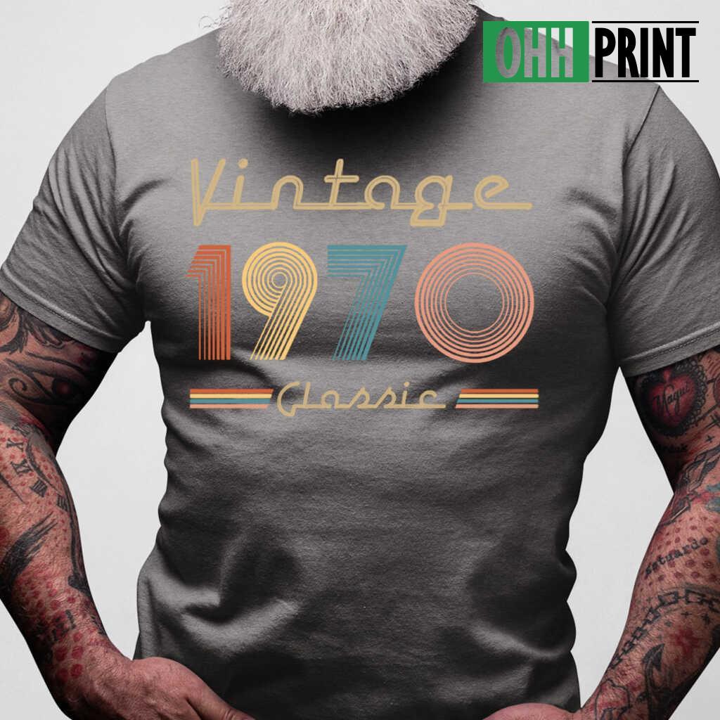 Vintage 1970 Classic T-shirts Black