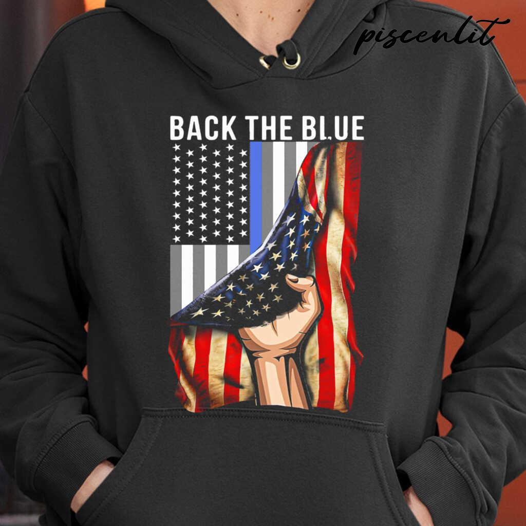 Back The Blue American Flag Tshirts Black - from piscenlit.com 3