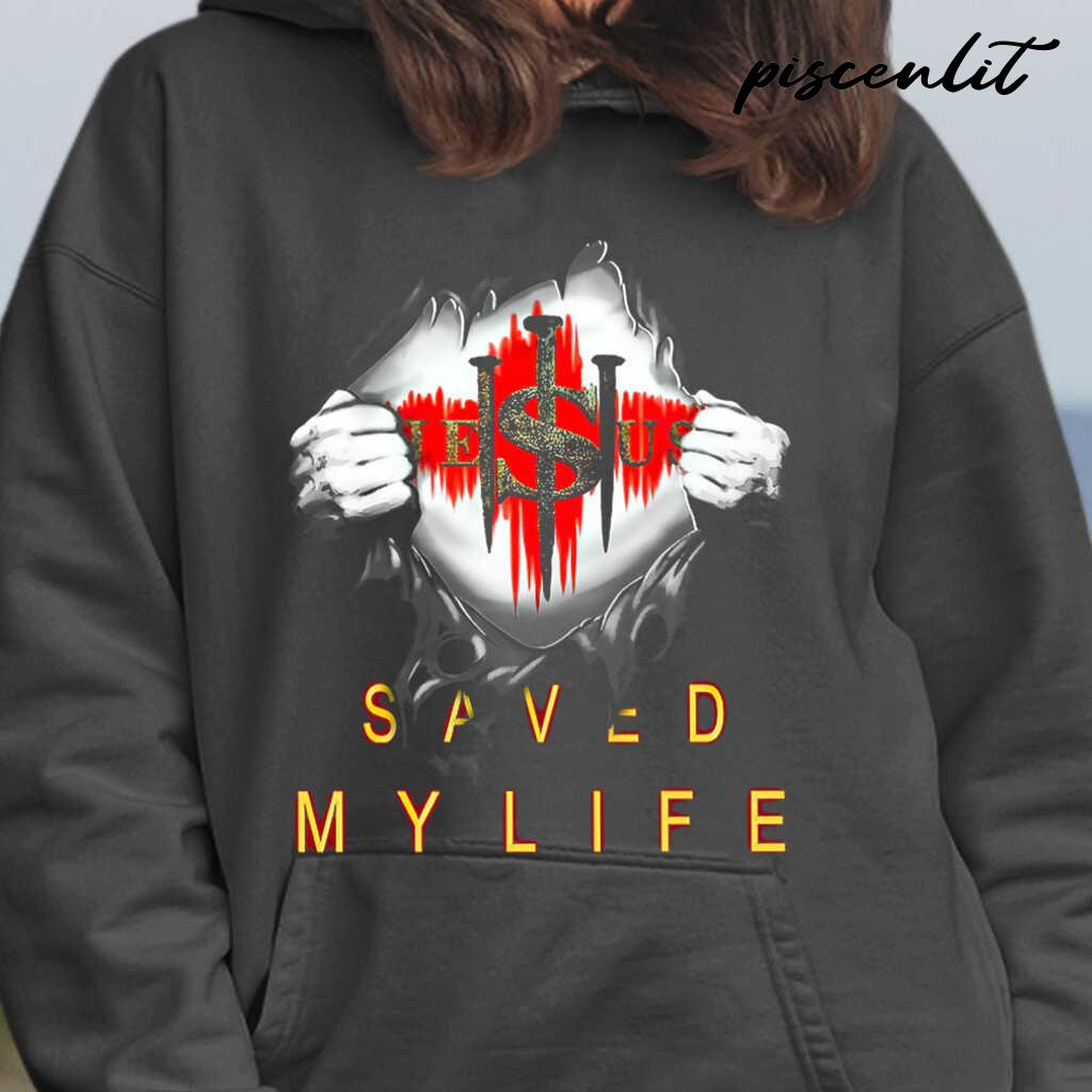 Christian 3D Jesus Saved My Life Tshirts Black - from piscenlit.com 3