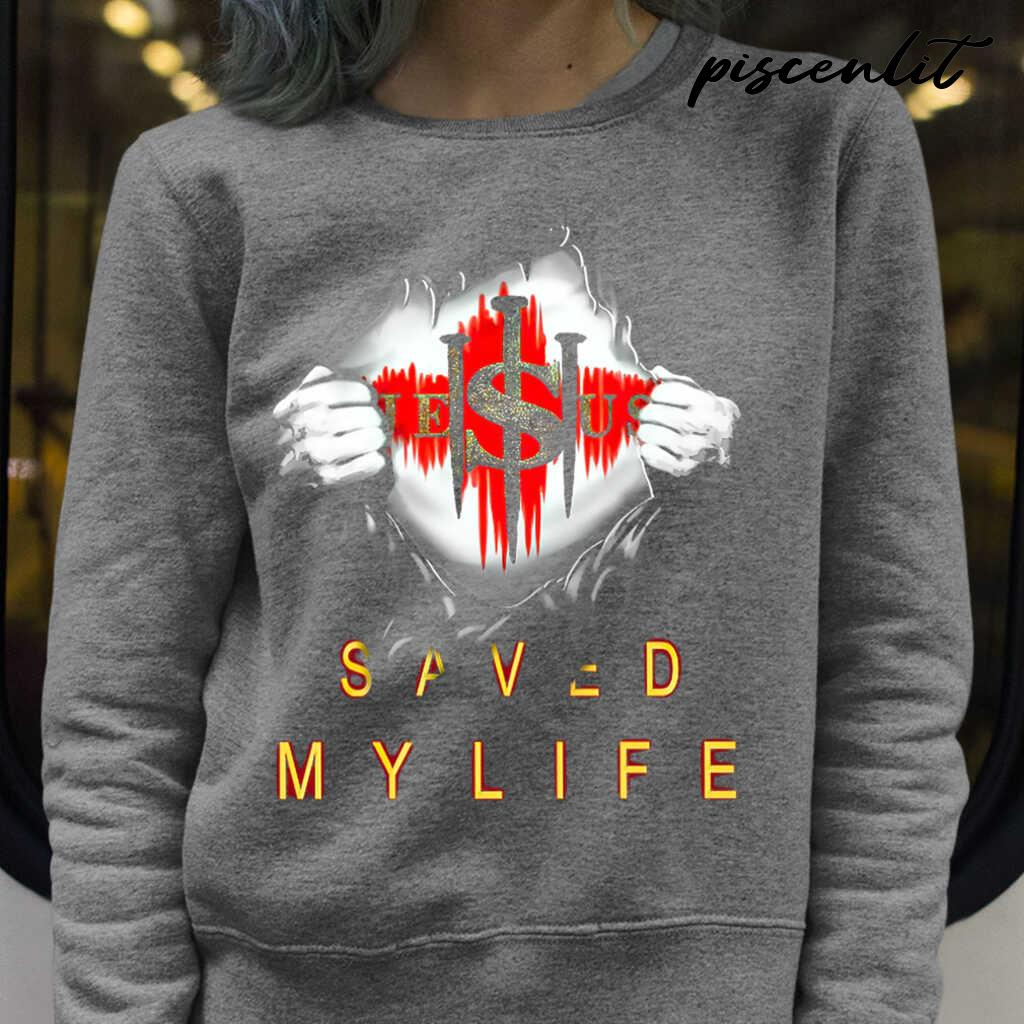 Christian 3D Jesus Saved My Life Tshirts Black - from piscenlit.com 4
