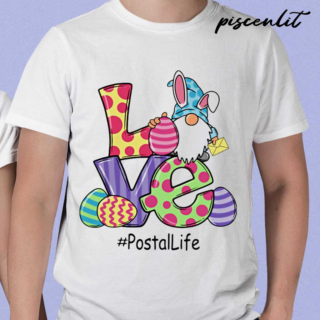 Gnome Love Postal Life Easter Tshirts White - from piscenlit.com 1