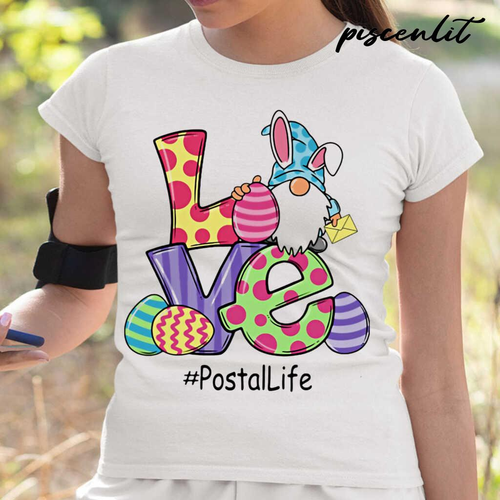 Gnome Love Postal Life Easter Tshirts White - from piscenlit.com 2