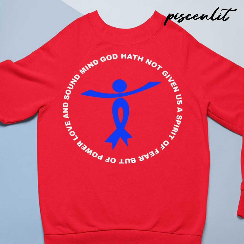 God Hath Not Given Spirit Of Fear Power Love Charcot Marie Tooth Awareness Blue Ribbon Warrior T-Shi Tshirts Black - from piscenlit.com 4