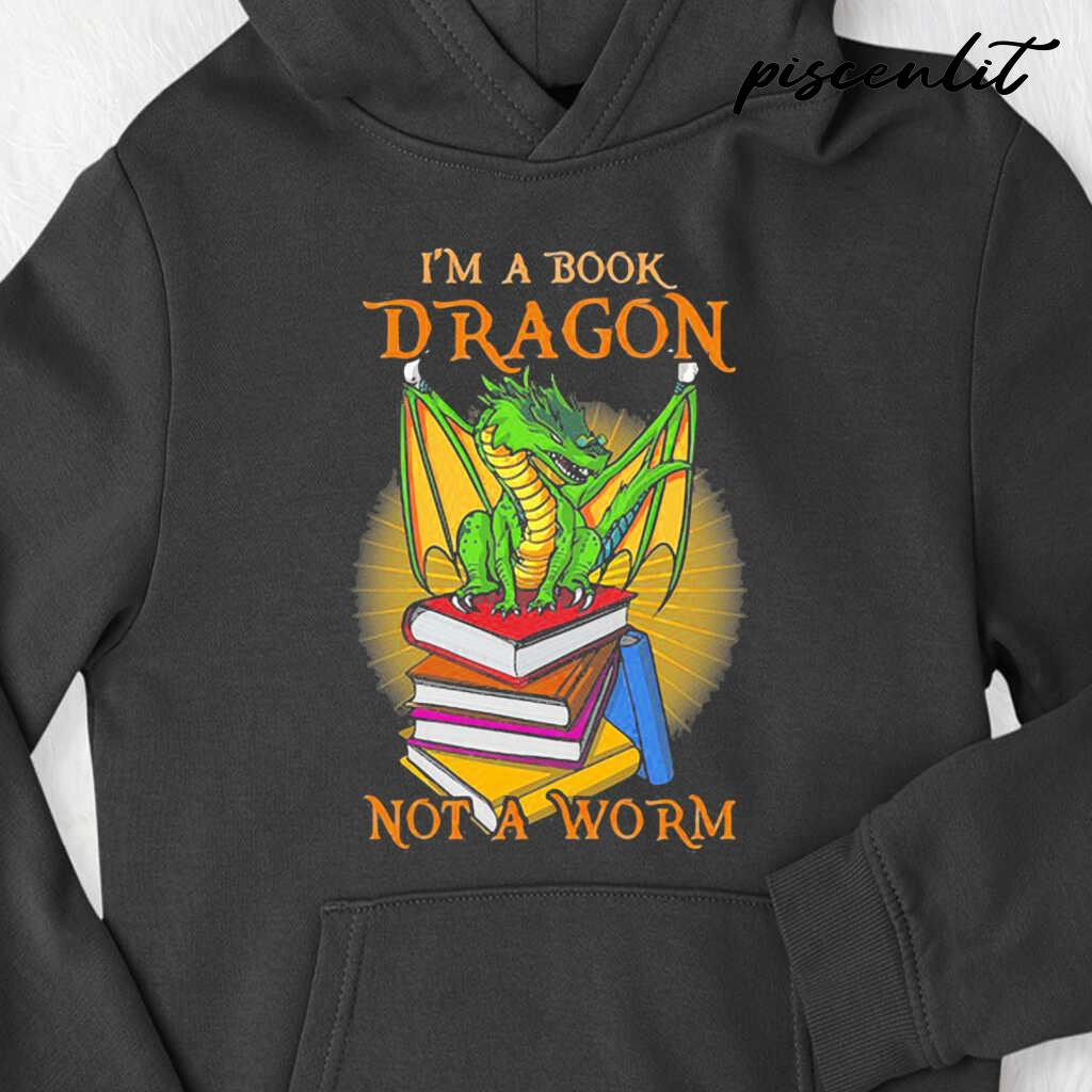 I'm A Book Dragon Not A Worm Quote Tshirts Black - from piscenlit.com 4