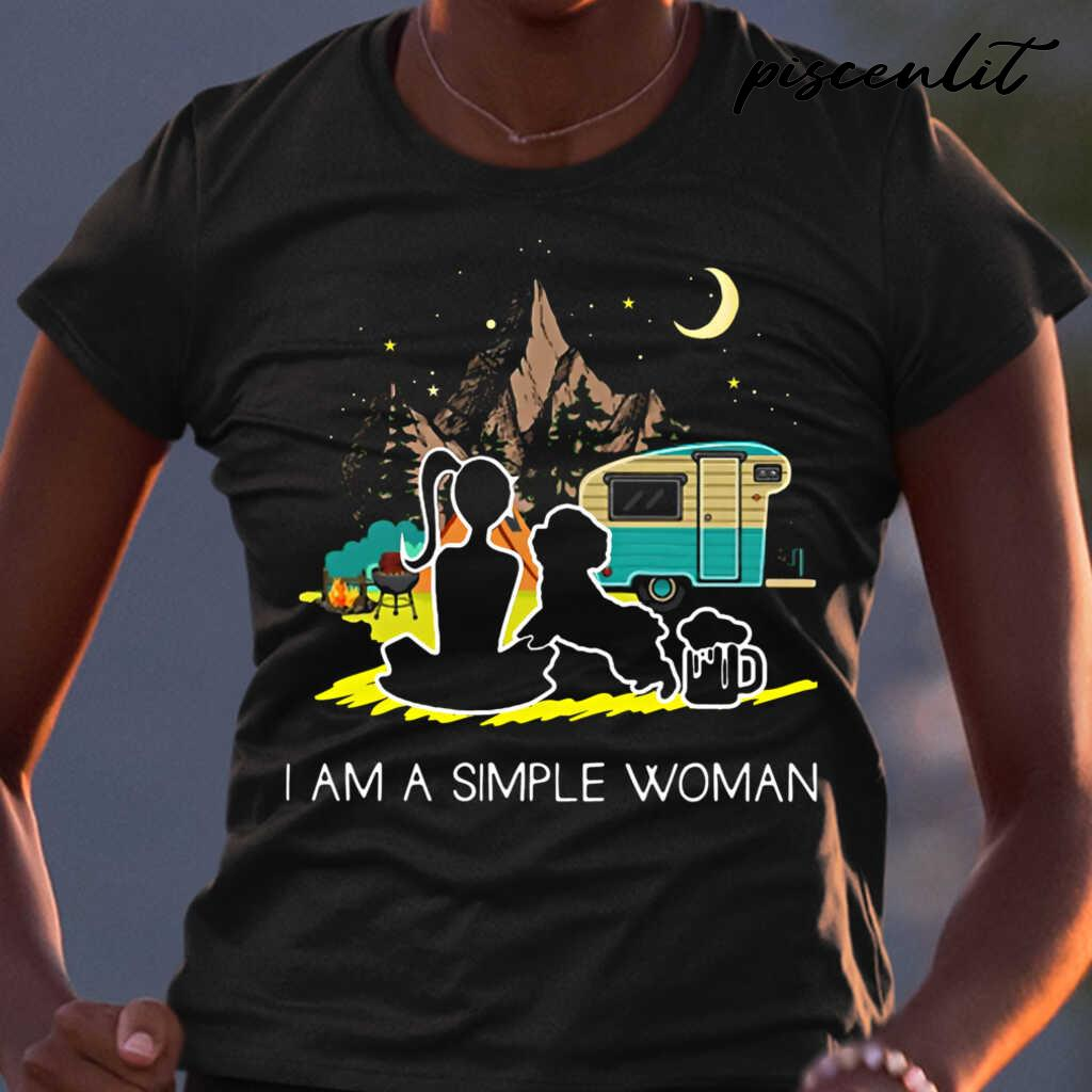 I'm A Simple Woman Camping And Dog Lover Tshirts Black - from piscenlit.com 2