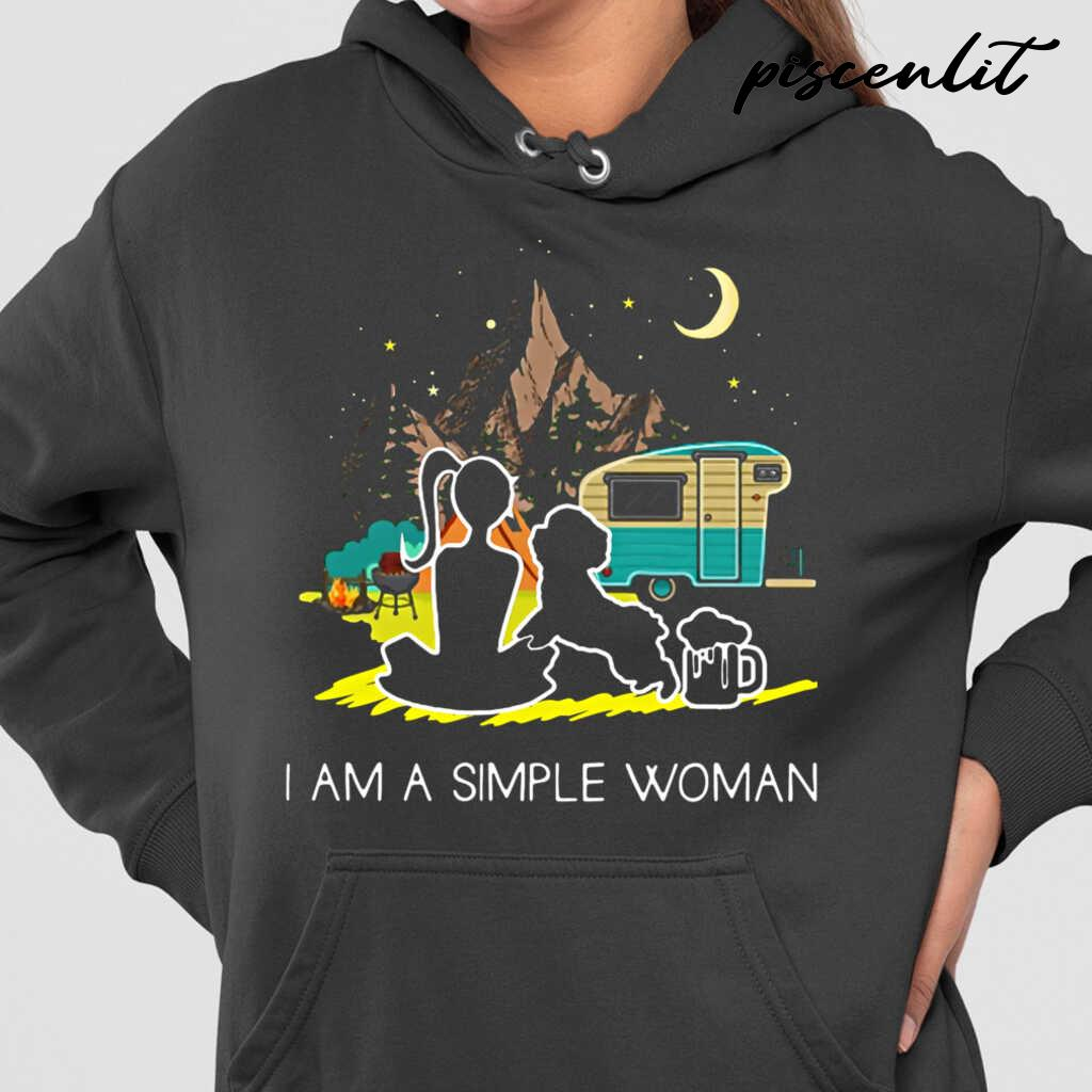 I'm A Simple Woman Camping And Dog Lover Tshirts Black - from piscenlit.com 4