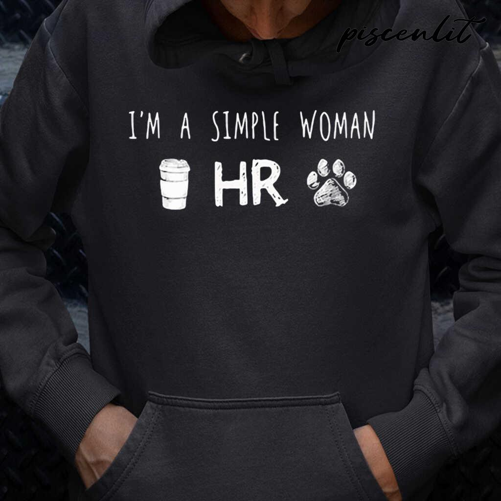 I'm A Simple Woman Coffee Hr Paw Dogs Tshirts Black Apparel black - from piscenlit.com 4