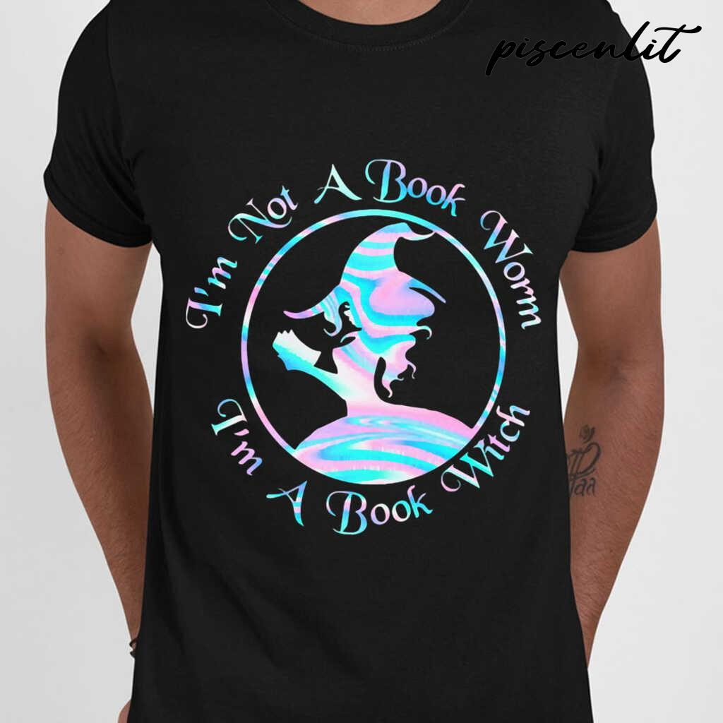 I'm Not A Book Worm I'm A Book Witch Tshirts Black - from piscenlit.com 1