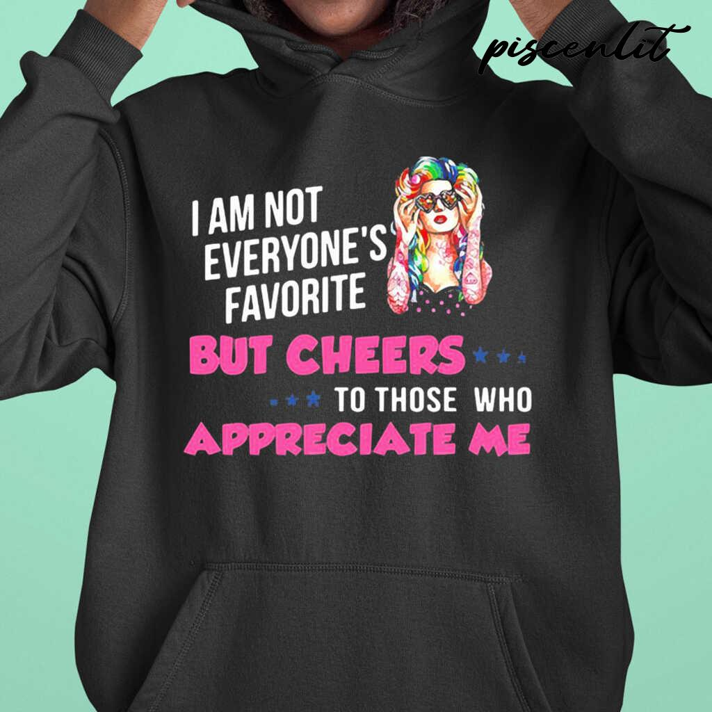 I'm Not Everyone's Favorite But Cheers To Those Who Appreciate Me Hippie Girl Tshirts Black - from piscenlit.com 3