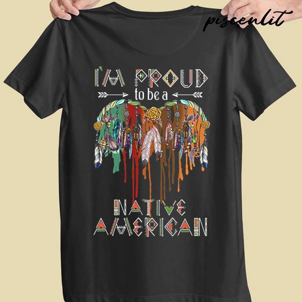 I'm Proud To Be A Native America Feathers Tshirts Black - from piscenlit.com 4
