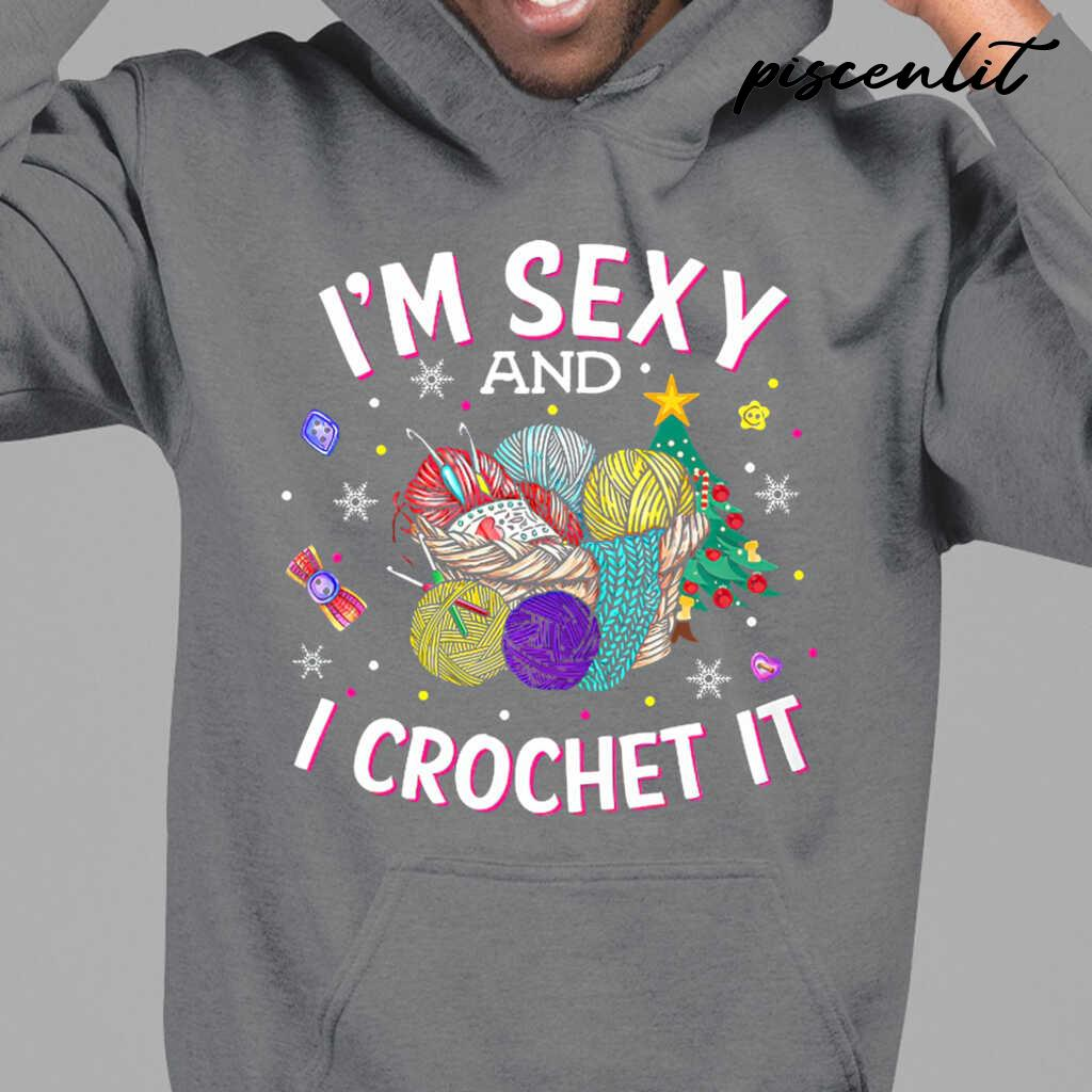 I'm Sexy And I Crochet It Tshirts Black - from piscenlit.com 3