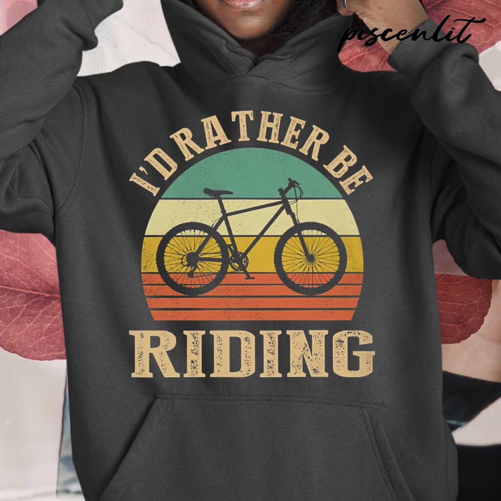 I Rather Be Riding Cyclist Vintage Tshirts Black - from piscenlit.com 3