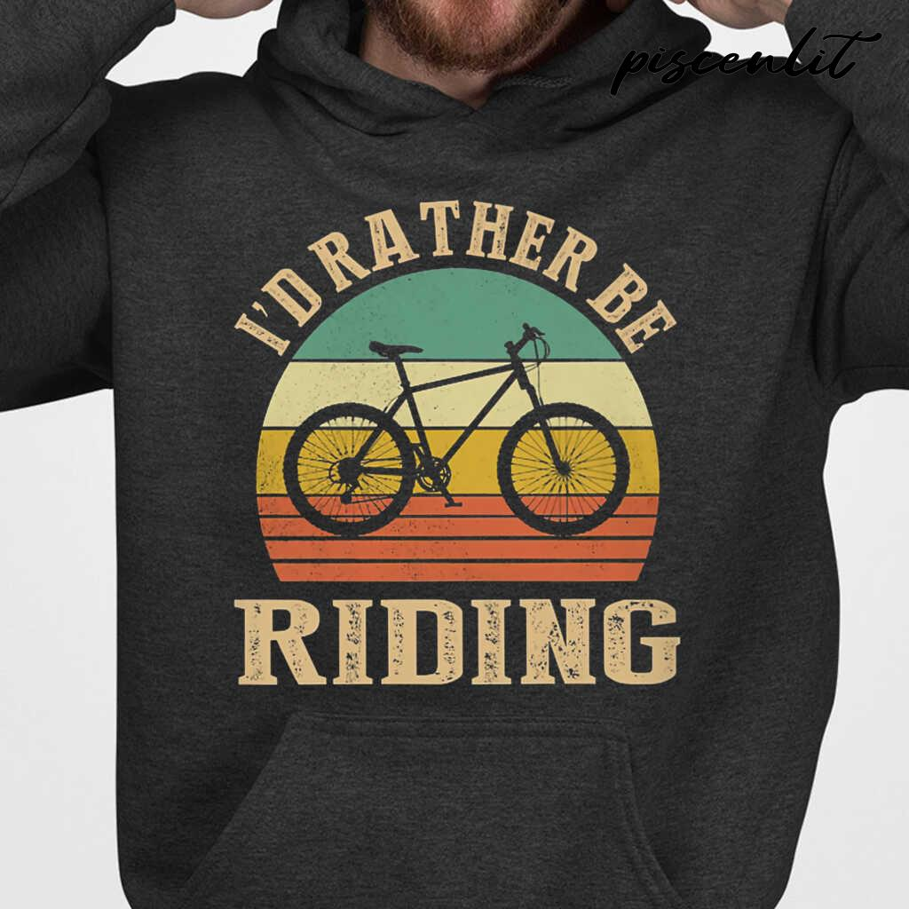 I Rather Be Riding Cyclist Vintage Tshirts Black - from piscenlit.com 4