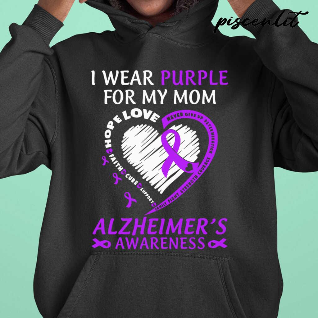 I Wear Purple For My Mom Alzheimers Awareness Tshirts Black - from piscenlit.com 3