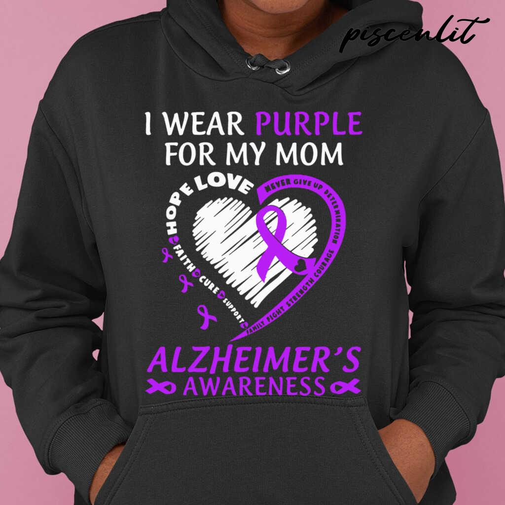 I Wear Purple For My Mom Alzheimers Awareness Tshirts Black - from piscenlit.com 4