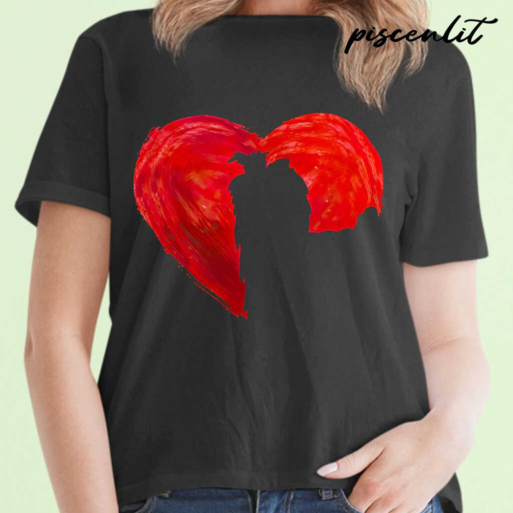 In My Heart Valentine's Day Silhouette Yorkie Tshirts Black - from piscenlit.com 2